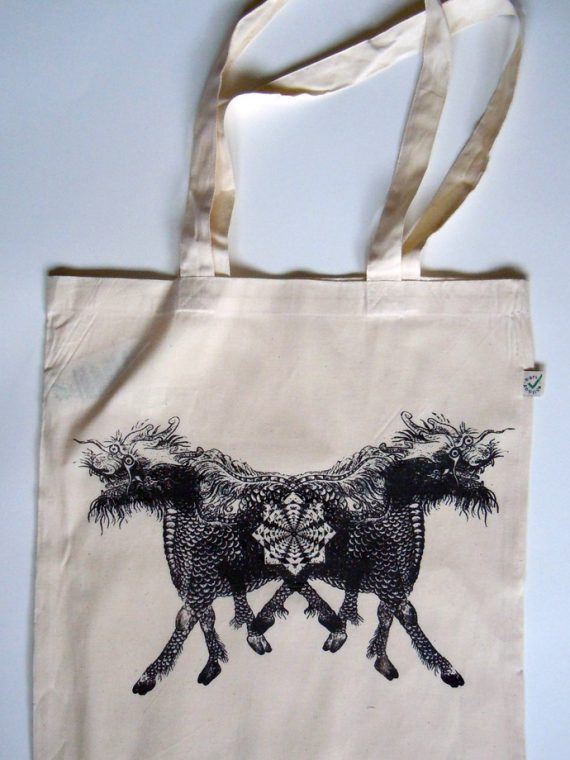 Asiatic Horse Heavy Shopper Tote